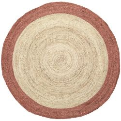 Tapis chanvre rond Broste