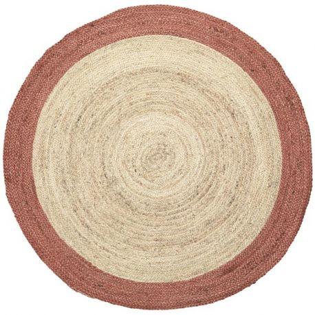 Round hemp rug Broste