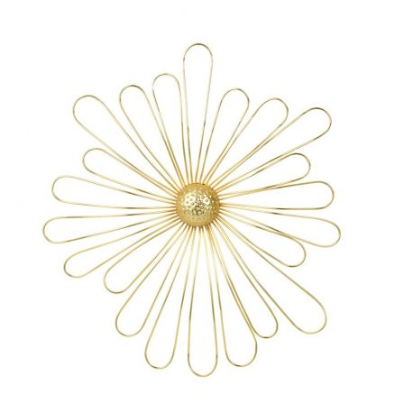 Brass metal flower wall decor