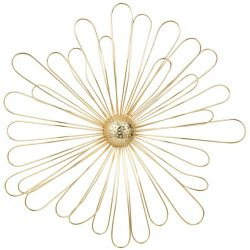 3D brass metal flower decor