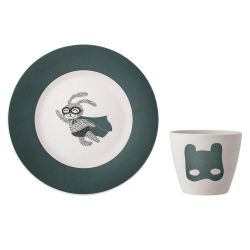 Superhero Bamboo plate and cup Bloomingville
