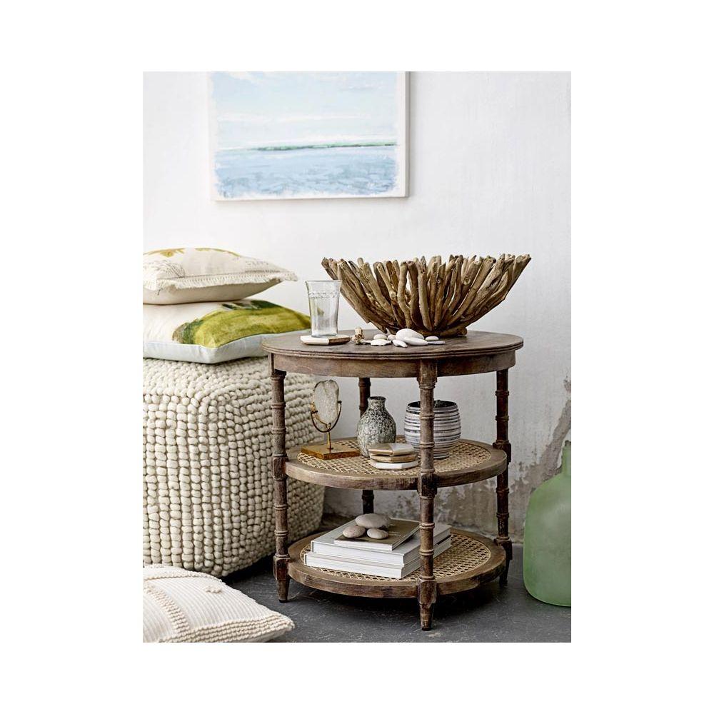 Pouf carr design en laine mobilier tendance bloomingville for Deco mobilier design