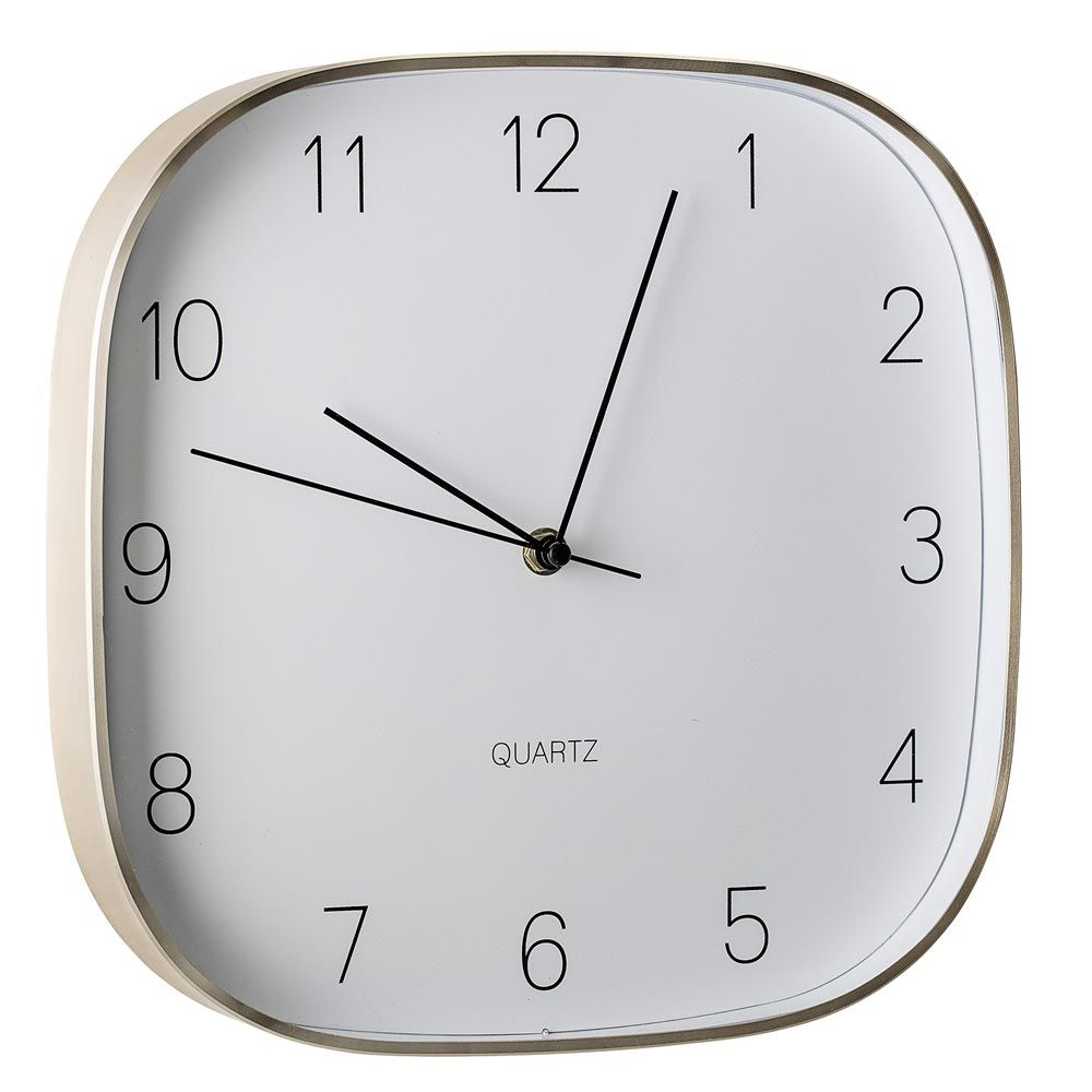 Horloge Murale Design Avec Cadre Doré Par Bloomingville