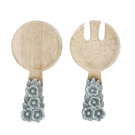 Design salad servers in wood