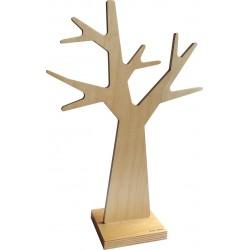 Arbre à bijoux bois naturel