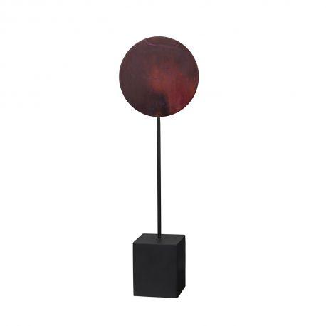 Object décoratif Asle rouge patiné
