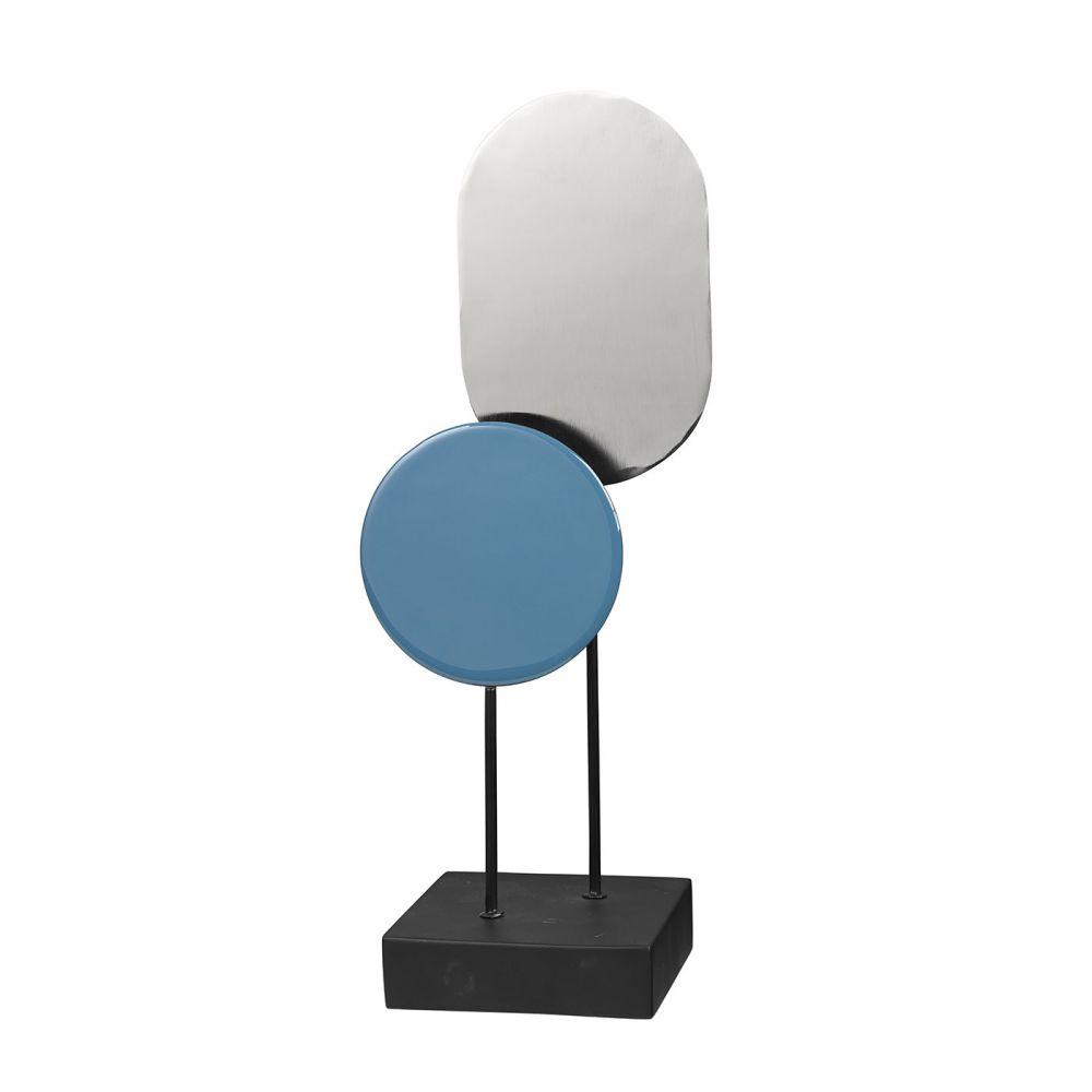 Object décoratif asle rouge patiné · objet décoratif moderne design bleu argent