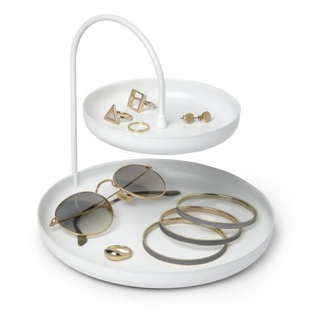 Jewelry stand in white metal