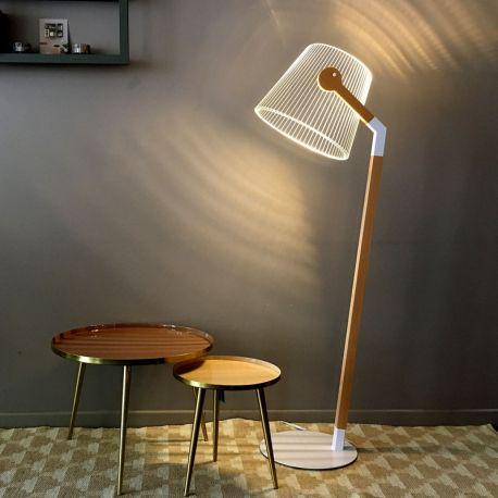 Lampe sur pied Ziggi illusion optique