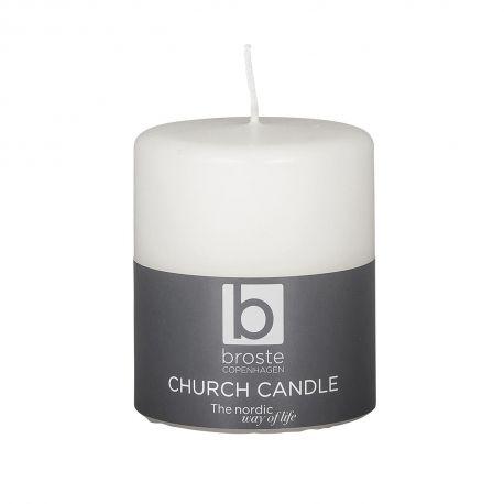 White pillar candle 52 h