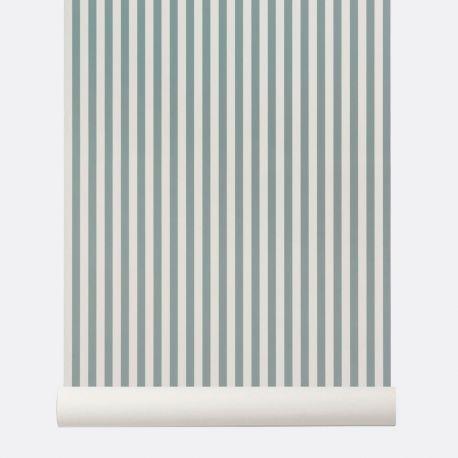 Blue stripes wallpaper Ferm Living