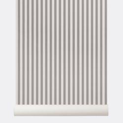 Papier Peint Thin Lines Gris / Blanc cassé