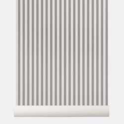 Thin Lines Grey / Off white Wallpaper
