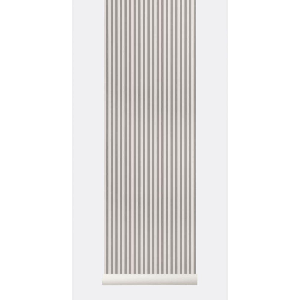 Papier Peint A Rayure Gris Et Blanc papier peint thin lines gris / blanc cassé