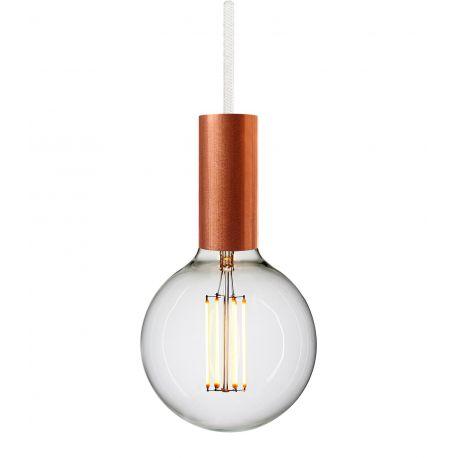 Copper pendant white cord