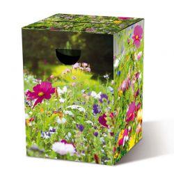 Tabouret en carton Fleurs