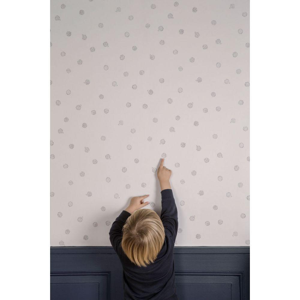 Ferm Living : Papier peint chambre bébé motif Hérisson