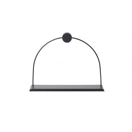 Design black bathroom wall shelf