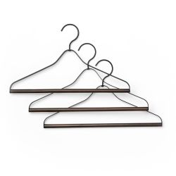 Ferm Living set of 3 metal and wood coat hangers