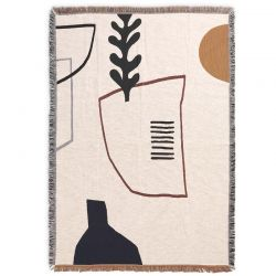 Mirage Off white Blanket Ferm Living