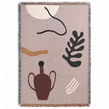 Mirage design cotton blanket by Ferm Living