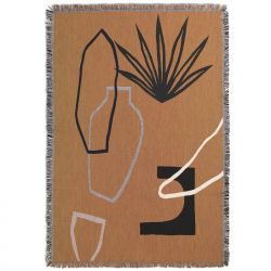 Mirage Mustard Blanket Ferm Living