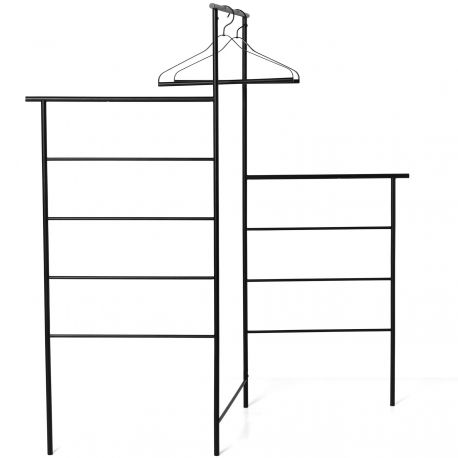 Foldable black clothes stand