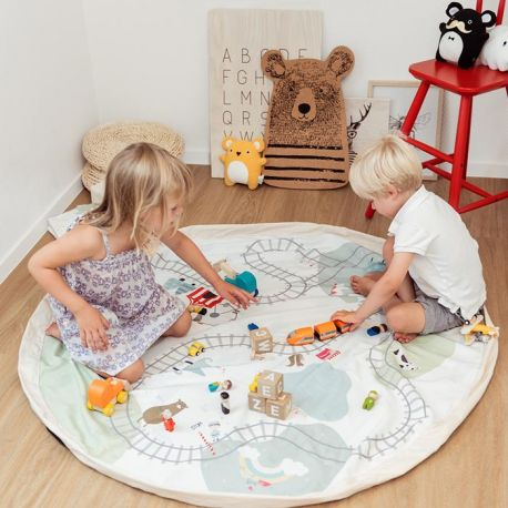 Tapis de jeu rond Train Play and Go