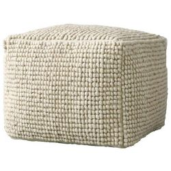 Wool pouf Bloomingville