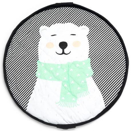 Tapis rond bébé ours polaire Play and Go