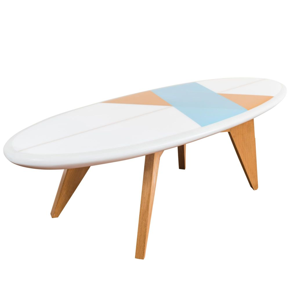 Bolge 60 Coffee Table In The Shape Of A Surf Design Oval Table By Salty