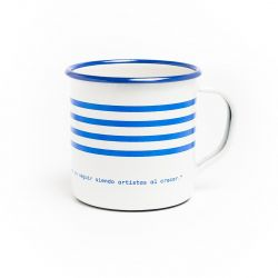 Striped Mug Isol Barcelona