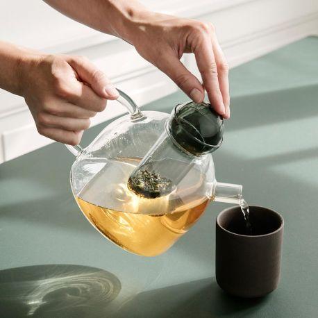 Ferm Living round glass teapot