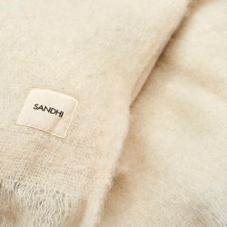 Sandhi Unicolor Off White Wool Blanket