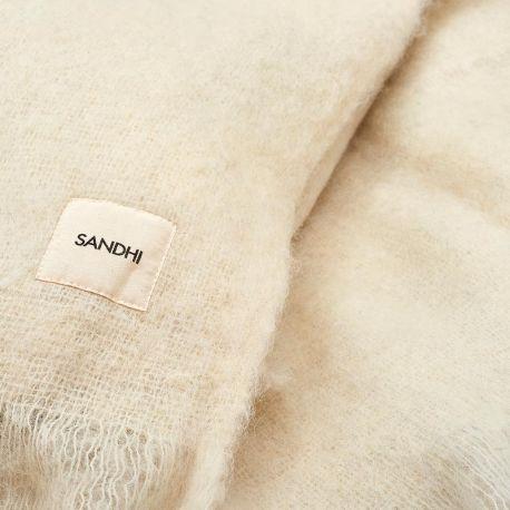 Off white wool blanket