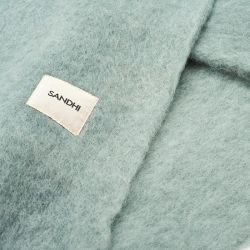 Sandhi Unicolor Wool Blanket Blue Surf