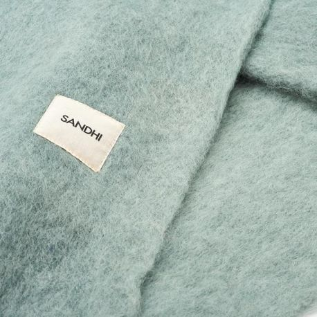 Soft green wool blanket