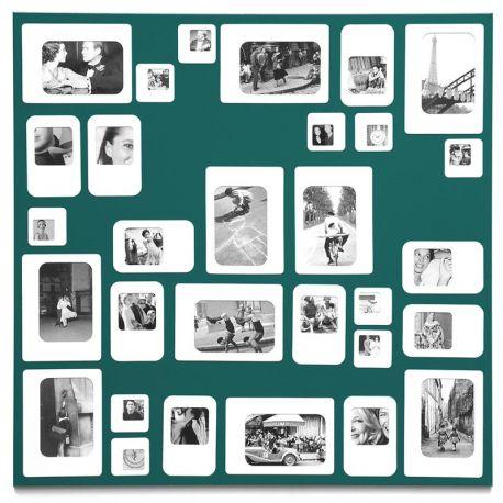 Original large green photo frame