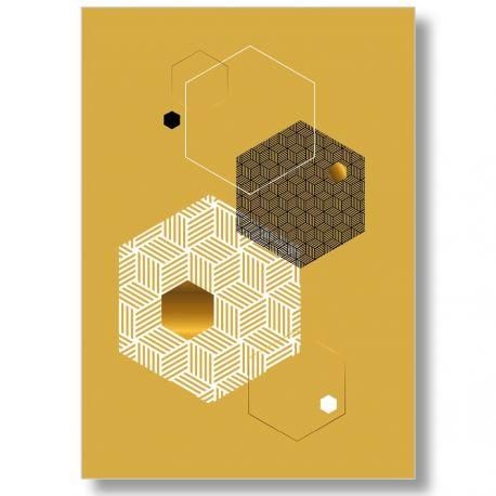 Mustard Scandinavian graphic poster