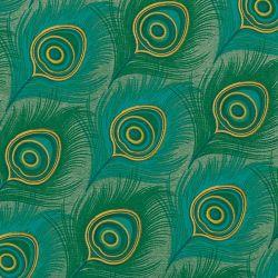 Peacock non-woven napkins Françoise Paviot