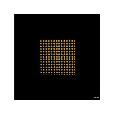 Black and gold paper napkin