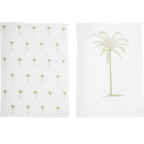 Palm tree tea towel Bloomingville
