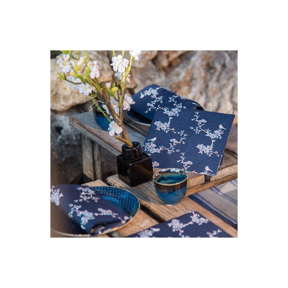 Serviettes En Papier Originales serviettes intissé kimono françoise paviot