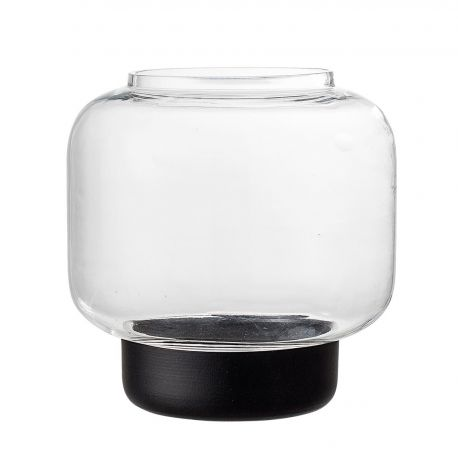 Bloomingville glass and metal candle holder