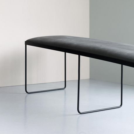 Grand banc design gris et noir