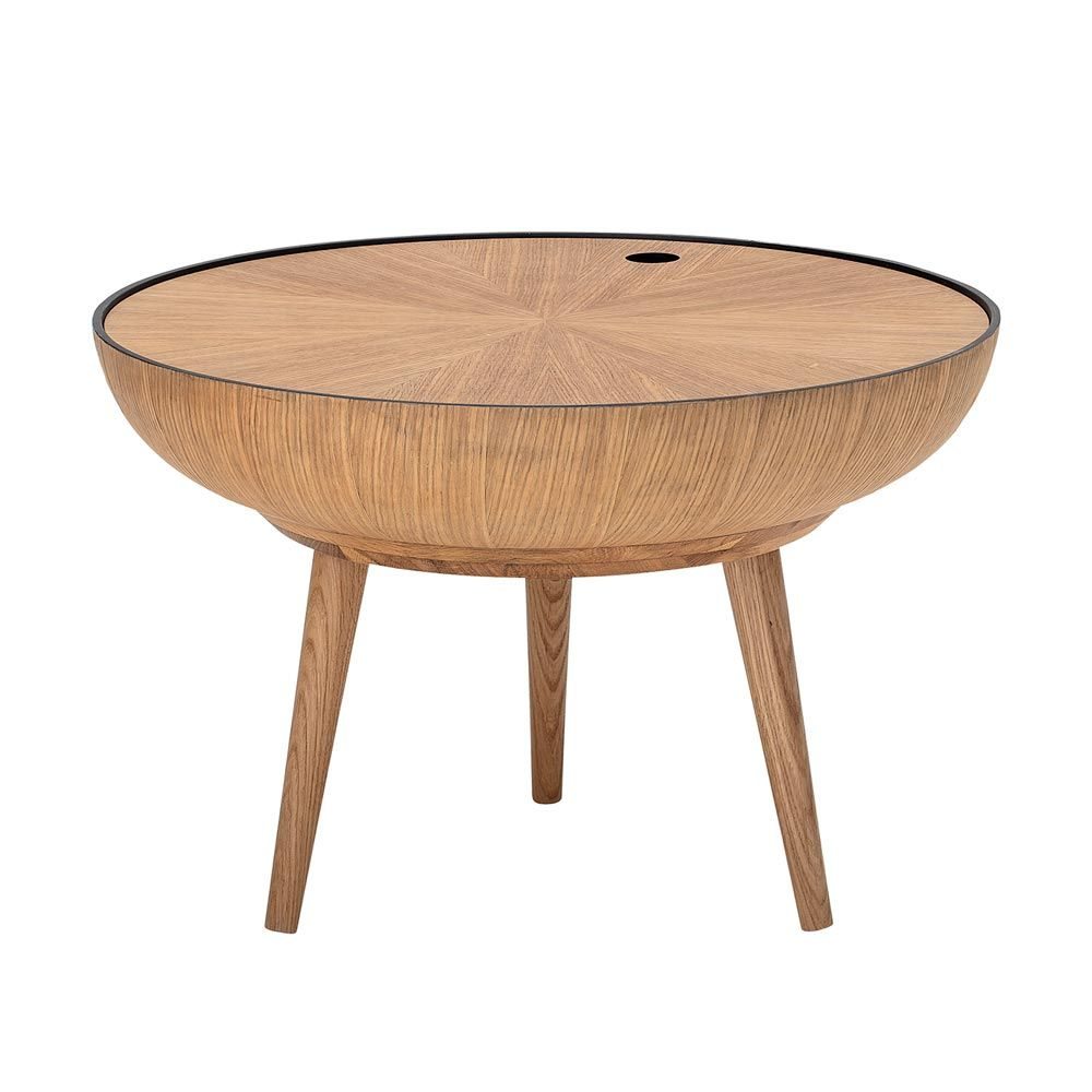 - Bloomingville Scandinavian Coffee Table: Round Oak Coffee Table With  Removable Top
