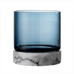 Marblue glass candle holder Bloomingville