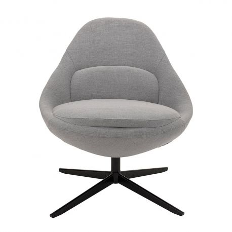 Design grey swivel armchair