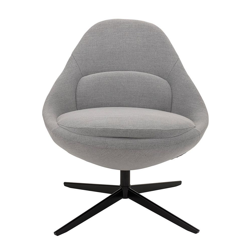 Brilliant Bloomingville Grey Scandinave Armchair Dawn Comfortable Swivel Chair Beatyapartments Chair Design Images Beatyapartmentscom