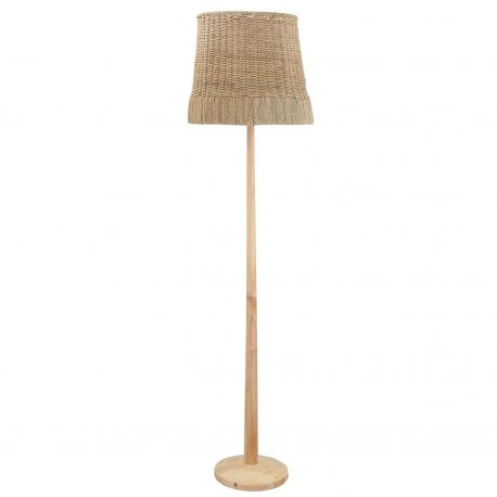 Bloomingville rattan floor lamp